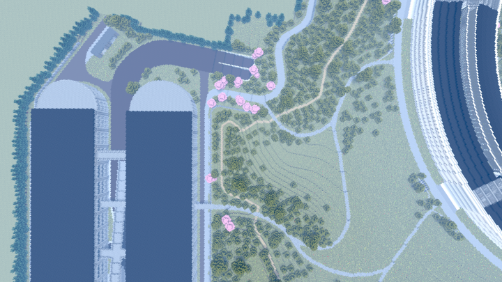 Update 5 - Built about 40 acres of terrain, including the area over the entrance tunnel.