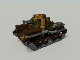 Type 95 Ha-Go (4.5:1 Scale) Minecraft Map & Project