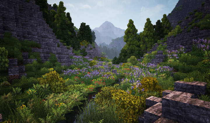 Custom terrain is easier and more detailed with Conquest Reforgeds range of vegetation and geological blocks.
