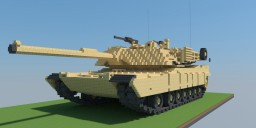 M1A2 Abrams tank 10:1 scale Minecraft Map & Project
