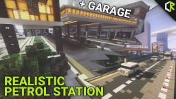 Realistic Petrol / Gas Station Minecraft Map & Project
