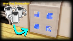 Minecraft - How To Make A Working Dish Washer / Washing Machine Minecraft Project