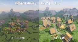 Transform Plains Village Minecraft Project
