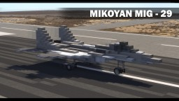 Mikoyan MIG - 29 Minecraft Map & Project