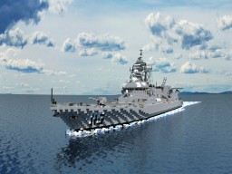 Akizuki-class destroyer Minecraft Map & Project