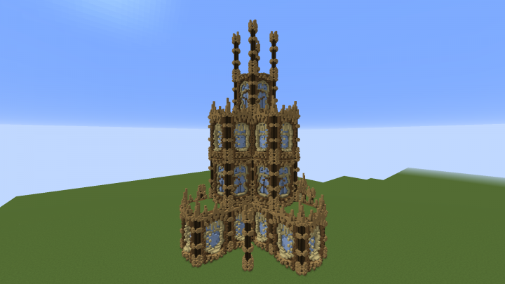 The Wooden Tower Mega Build Minecraft Project