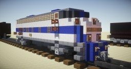 MARC EMD F7 Diesel-Electric Locomotive Minecraft Map & Project