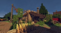 Schematic - Sandstone Medieval House Minecraft Map & Project