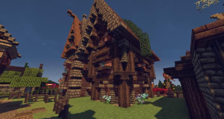 Schematic Lil Medieval Townhouse Minecraft Project - Minecraft mittelalter haus schematic