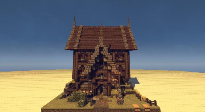 Schematic Medieval House With Flowerbed Minecraft Project - Minecraft mittelalter haus schematic