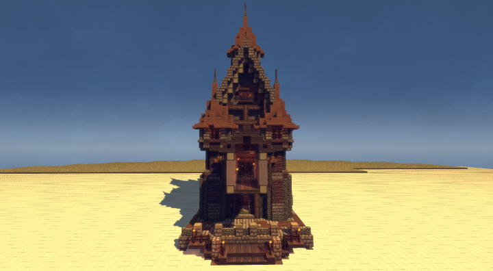 Schematic Medieval Mansion For Your Harbor Minecraft Project - Minecraft mittelalter haus schematic