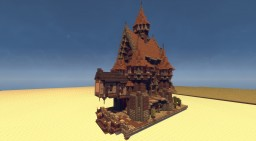 Schematic - Medieval Mansion for your Harbor Minecraft Map & Project