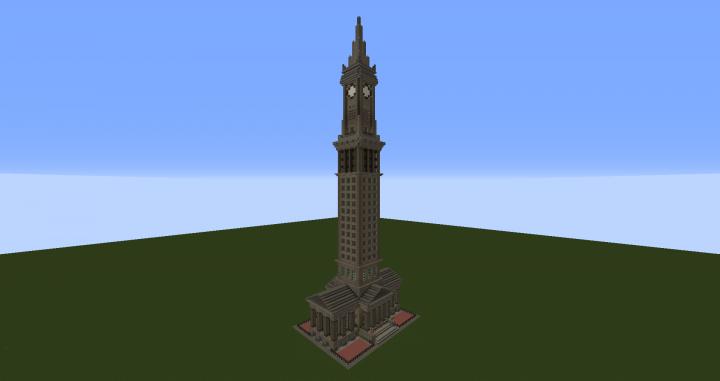 Custom House Tower Boston Ma Minecraft Map