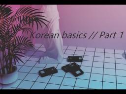 Korean basics // Part 1 Minecraft Blog Post