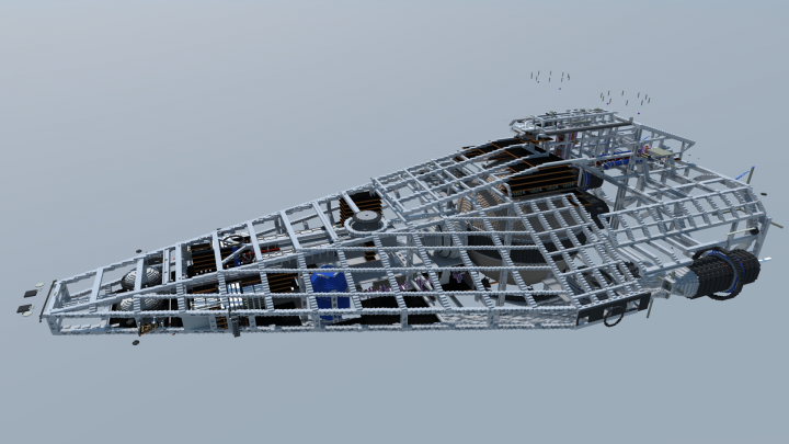 Another shot of the framework, with internal systems visible