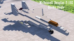 McDonnell Douglas F-15E Strike Eagle Minecraft Map & Project