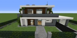 Modern house n°1 furnish Minecraft Project