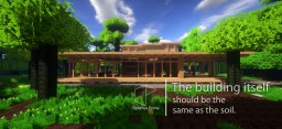 [GN] Modern wooden house - GN modern house collection 03 Minecraft Map & Project