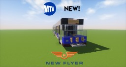 NEW MTA New Flyer XDE60 Articulated Bus Minecraft Map & Project