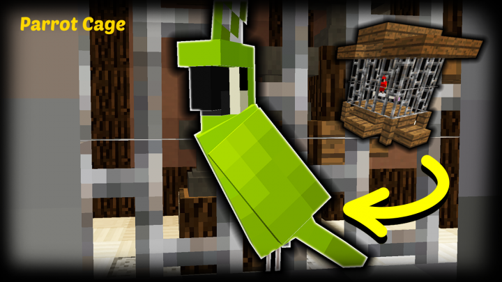 minecraft how to make a parrot banner