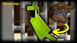 Minecraft - How To Make A Parrot Cage / Bird Cage Minecraft