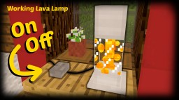 Minecraft - How To Make A Working Lava Lamp Minecraft Project