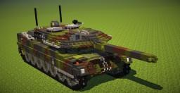 Leopard 2 German tank Minecraft