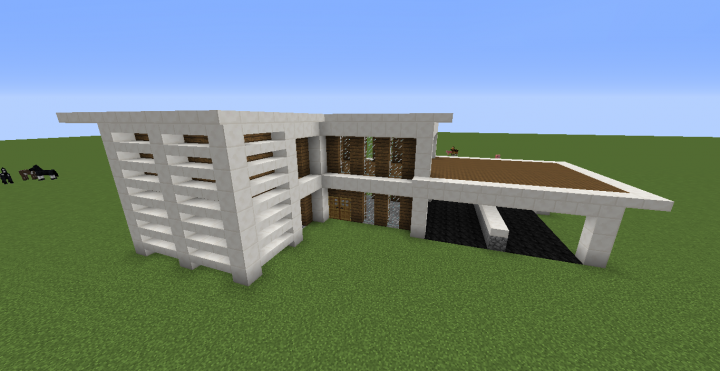 Small Quartz House Minecraft Project