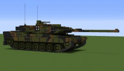 Leopard2 a6 10:1 scale tank Minecraft Project
