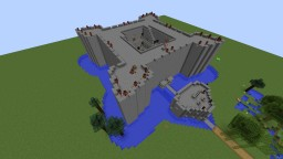 Fortress with Clash of Clans Base Nearby Minecraft Project