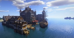 Medieval Harbor Minecraft Map & Project