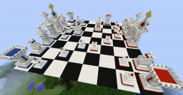 Large Chess Board Red V Blue Minecraft Map & Project