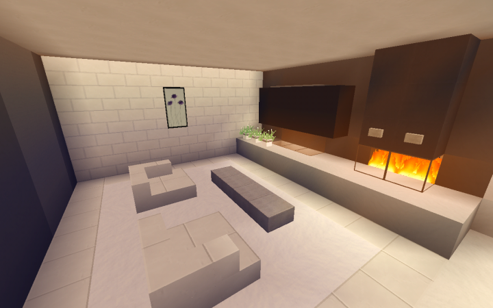 Small Modern Living Room Design Minecraft Project