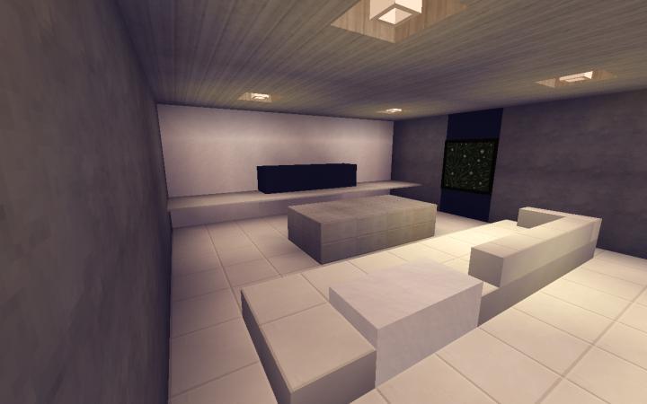 8 Small Modern Living Room Design Minecraft Map