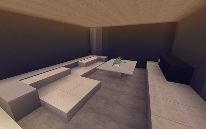 8 Small Modern Living Room Design Minecraft Map