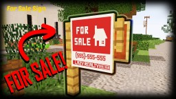 Minecraft - How To Make A For Sale Sign | Custom Map Minecraft Blog Post