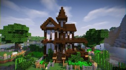 Wooden Victorian House - Survival Minecraft Map & Project