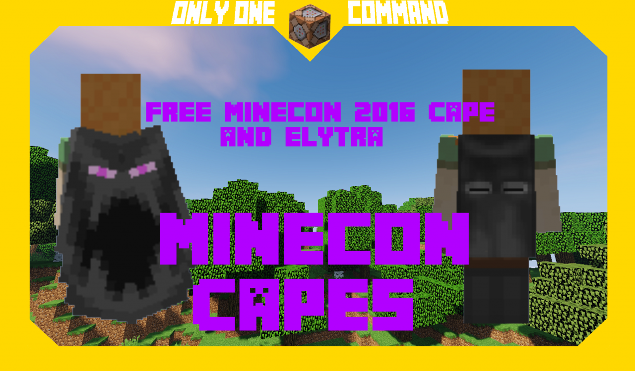 Minecon Capes | Command Block Creation Minecraft Project