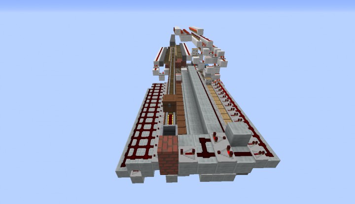 Overview of station, bare redstone