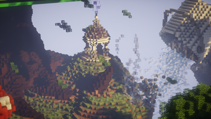 The new Skyblock island in the hub!