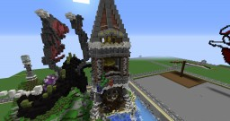 Fantasy Tower with dragon [PLOT BUILD WITH DOWNLOAD] Minecraft Project