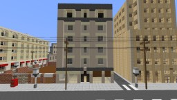Harkenburg City - 1950's Commercial Building Apartments Minecraft Map & Project