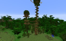 Epic Jungle Tree House!  (Based on Jeracraft) Minecraft Project