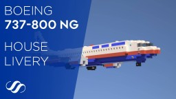 Boeing 737-800 NG House Livery Minecraft Project
