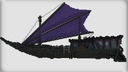 Purple blossom of the east | Asian Fantasyship Minecraft Project