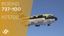 Boeing 737-100 N73700, 50th anniversary edition Minecraft