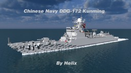 DDG-172 Kunming, Type 052D class destroyer [1:1 Scale] Minecraft Map & Project