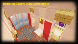 Minecraft - How To Make A Clothes Store Dressing Room   Changing Room Minecraft Map & Project