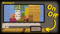 Minecraft - How To Make A Working Tv Minecraft Map & Project