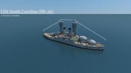USS South Carolina | BB-26 Battleship Minecraft Project